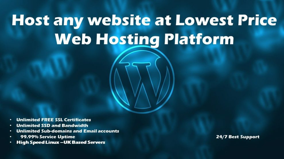 Low cost web hosting service
