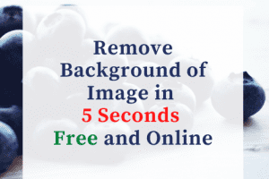Remove Background in 5 seconds